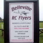 Belleville RC Flyers Field Sign